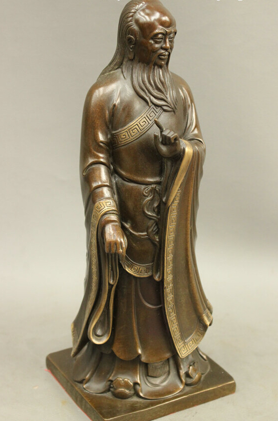 Bir 005357 12 Folk Chinese Bronze Taoism Earliest Ancestor Li Er Laozi Statue Sculpture In Statues Sculptures From Home Garden On Aliexpress