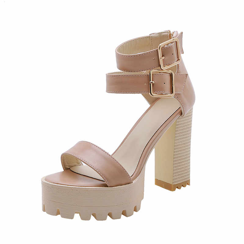 Morazora 2020 Bán Võ Sĩ Giác Đấu Giày Nữ Giày Nữ PU Mùa Hè Giày Cao Gót Nền Tảng Giày Sandal La Mã Đầm Dự Tiệc Dạ Hội Giày Người Phụ Nữ