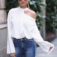 ca9ea11f misomee Women Elegant Casual Office Workwear White Shirt Female Stylish  Flare Sleeve