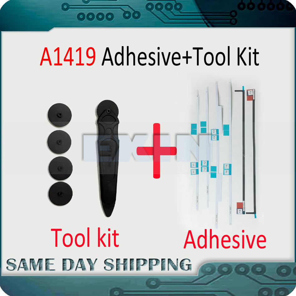 New A1419 LCD Display Adhesive Strip Sticker Tape + Tools Repair Kit for iMac A1419 27 LCD Screen Adhesive Strip 2012-2017 new for imac 21 5 a1418 lcd display screen w front glass assembly lm215wf3 sd d1 661 7109 661 7513 661 00156 2012 2015 year