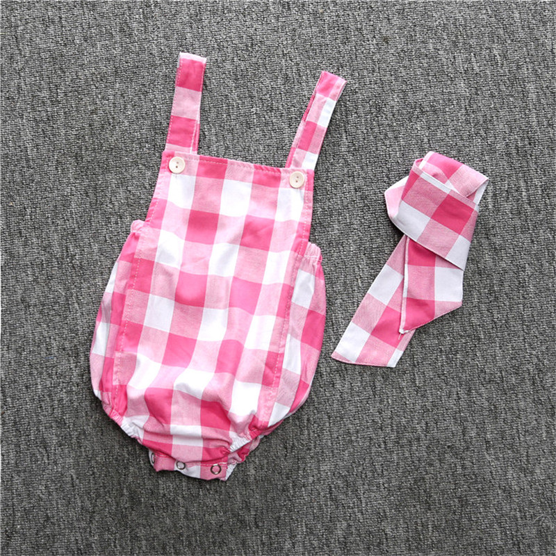 Baby Clothing 2017 New Summer Newborn Baby Boy Girl Romper and Headband 2pcs Baby Clothes Infant Product