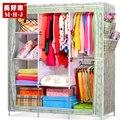 Простой шкаф двойной 420-емкости стали складной ассамблея толстые без ткани современный минималистский шкаф королева