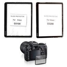 Compact LCD verre optique protecteur d'écran d'affichage de l'écran de la caméra Film protecteur pour Nikon D3100 D3200 D3300