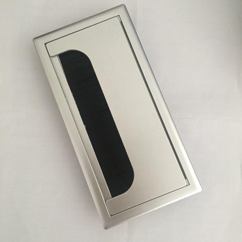 2 шт./лот 16x8 см стол прямоугольная кабельная втулка пластиковая проволочная Крышка отверстия