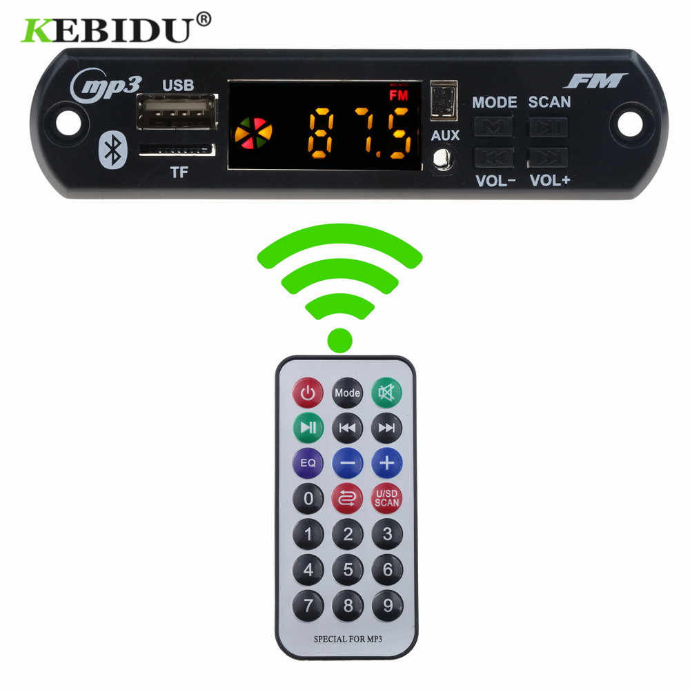 KEBIDU Bluetooth 5.0 Auto MP3 WMA FM AUX Scheda di Decodifica 5 V 12 V Modulo Audio FM TF Radio Automobile auto MP3 Altoparlante Accessori