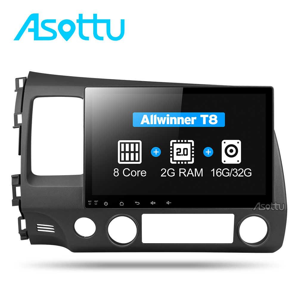 Asottu 2G android 8,1 coche dvd gps player para honda civic 2006-2011 coche radio video player gps navegación estéreo para coche 2 din dvd