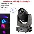 4в1 кейс для полетов 250 Вт LED Lyre Zoom Moving Head Light Beam Spot Wash Light DJ Stage Light ночной клуб свадебное Dj оборудование
