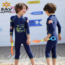 d6bee9a7c3 2018 Hot Korean Children's Long-sleeved Sunscreen Swimsuit Jellyfish Clothes  Boy Conjoined Surfing Water Skiing Diving Suit