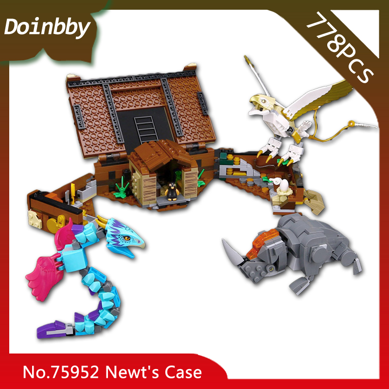 2018 New Harri Potter Movie Series Newt's Case of Magical Creatures Building Blocks Toys Compatible With Legoings 75952 in stock 16059 harry movie potter legoingp 75952 newt s case of magical creatrues set model building blocks kids toys christmas
