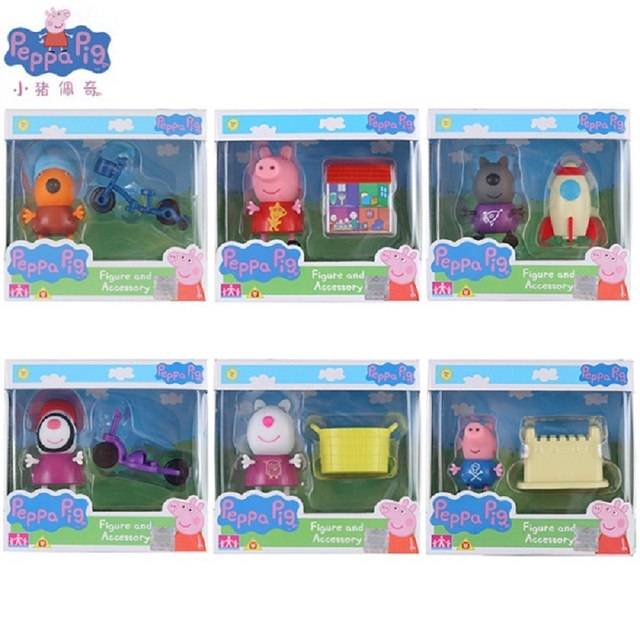 Us 4 99 Genuine Peppa Pig Friend Zoe Zebra Susy Sheep Danny Dog George Pig And Their Toys Children S Toy Gift In Action Toy Figures From Toys