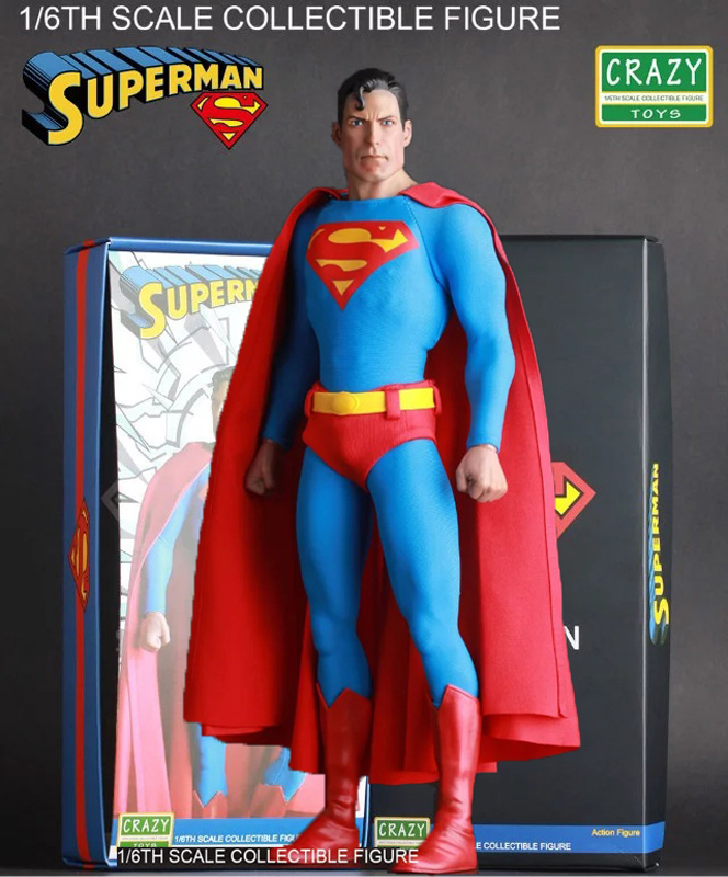 Crazy Toys Superman Play Arts Kai Supergirl figma Justice League batman wonder women avengers PVC Figure collectible Model 27cm lighting statue superman batman wonder woman lights avengers joker harley naruto aliens pvc action figure collectible model toy