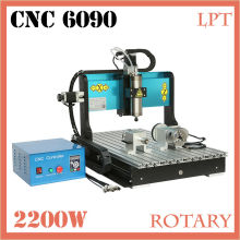 JFT Water Cooled 2200W CNC Router Machines Factory Prices 4 Axis Wood CNC Router with Parallel Port 6090