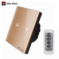 Elite Kilter EU UK Standard 86MM 86MM Remote Control Switch 2 Gang 1 Way Smart Wall