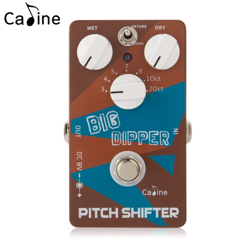 Caline PEDAL CP-36 Big Dipper Pitch Shifter Guitar Effects Pedals with True Bypass Harmonic Signal Wet and Dry Knobs new lepin 23011 technic series 2816pcs off road vehicle model building blocks bricks kits compatible 5360 to children gifts