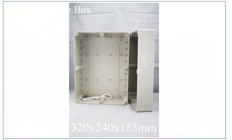 Outdoor Waterproof Plastic Enclosure Case Project Terminal Box 320x240x155mm