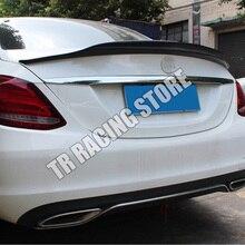 PSM Phong Cách Sợi Carbon Phía Sau Thân Cây Son Cánh ĐẦM XÒE DỰ Mercedes Benz W205 C180 C200 C300 C43 C63 AMG Sedan 4 Cửa 2014-2022