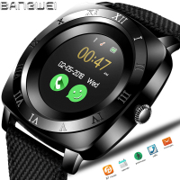 BANGWEI 2019 New Men Smart Watch Sport Watch Pedometer Electronic Clock Bluetooth Connection Big screen SIM Health Watch + box