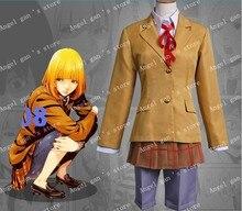 Envío gratis nuevo custom made Anime Kangoku Gakuen Cosplay traje prisión escuela Hana lettuce Midorikawa uniforme escolar Cosplay traje