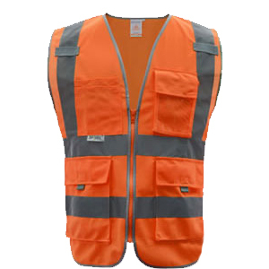 SFvest Safety Reflective vest men safety workwear work vest tool pockets yellow blue waistcoat free shipping 5