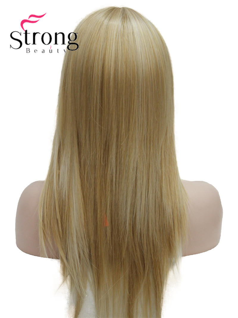 Image 3 - StrongBeauty Long Straight Ash Blonde with Light Blonde Highlights Synthetic Wig Womens Hair wigsSynthetic None-Lace  Wigs   -