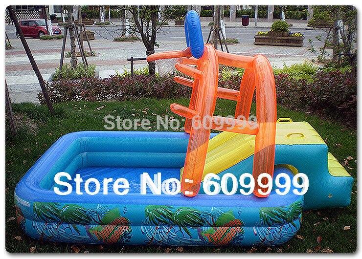 Nouveauté! pataugeoire gonflable multifonctionnelle en forme de château/piscine pour enfant en PVC résistant à haute densité/piscine de jeu - 3