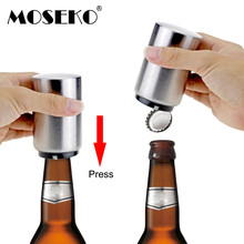 MOSEKO Press type Automatic Beer Bottle Openers Opener With Magnetic Bottler Bar Tool