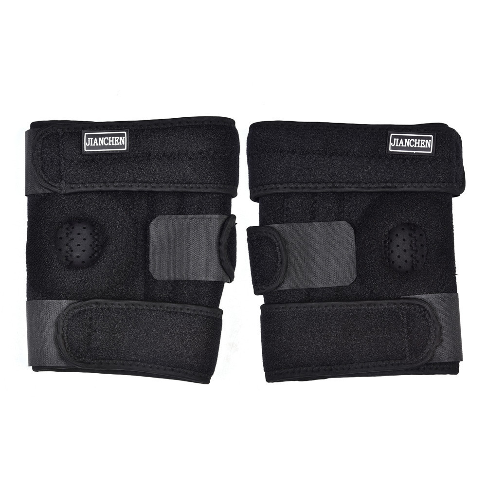 Sports 4 Springs Breathable Adjustable Elastic Knee Support Brace Kneepad Patella Knee Pads Hole Safety Guard Strap For Running