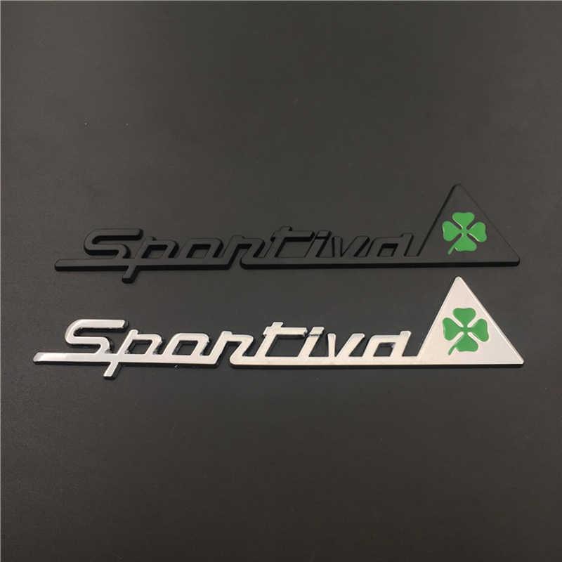 רכב מדבקת תלתן Sportiva גוף סמל מתכת תג מדבקות עבור אלפא רומיאו 147 155 159 Giulia ג 'ולייטה מיטו אוטומטי אבזרים