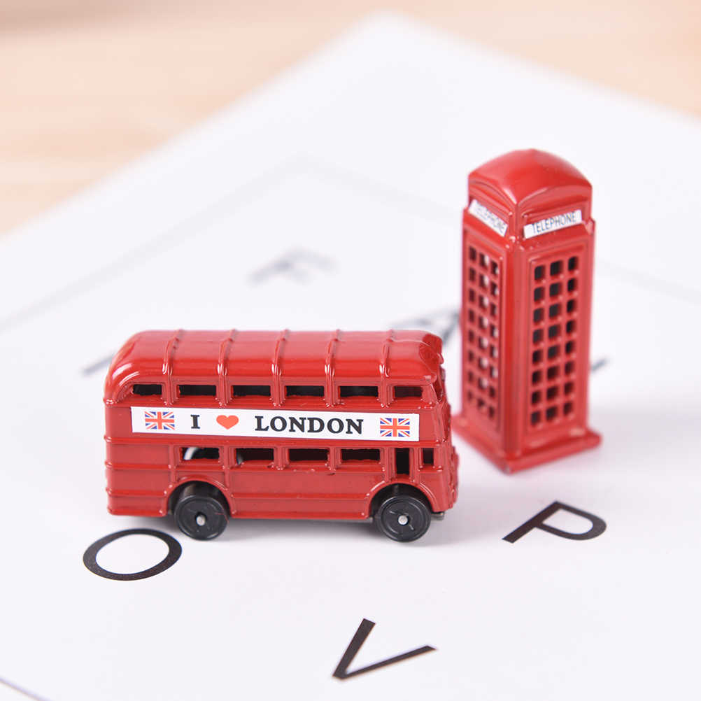3D London Double Decker Bus Phone Refrigerator Magnet Fridge Magnet Travel Souvenir Home Decoration Refrigerator Stickers