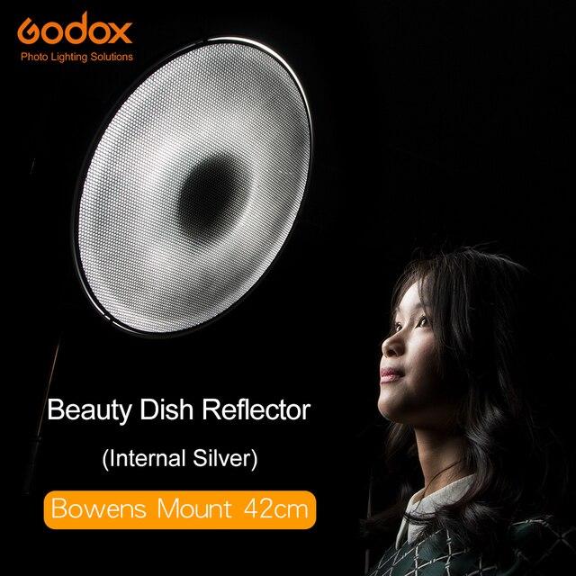 "Godox Beauty Dish Silver 42cm 16"" Honeycomb Grid Bowens Mount Diffuser for Flash Strobe"