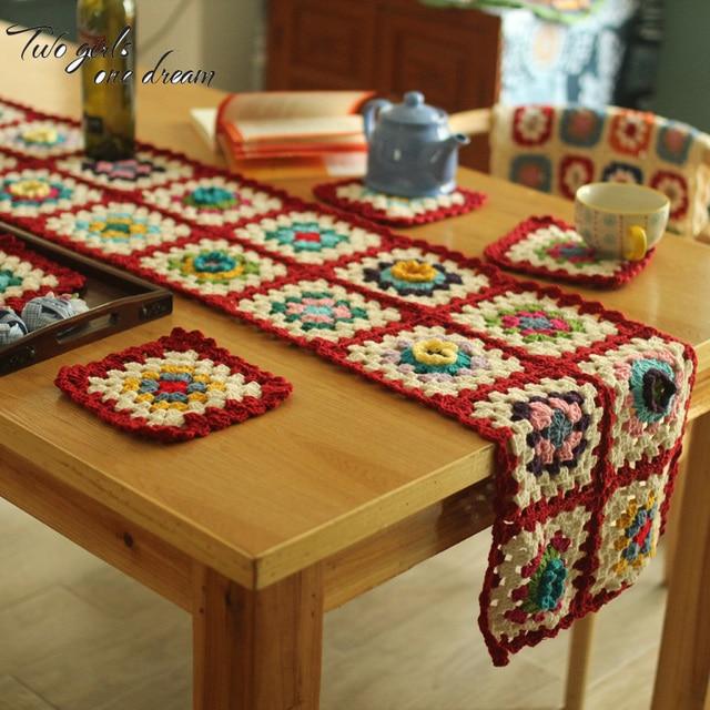 Original Diy Handmade Crochet Table Mats Coaster Hand Crochet Lace