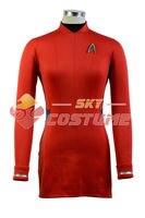Star Trek Beyond Nyota Uhura Uniform Cosplay Costume Red Dress Super Cool Hot Sale Boy Male