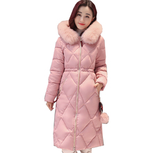 2017 New Winter Womens Down Jackets Hooded Thick Warm Medium Length Parkas Brand Women Overcoat High quality