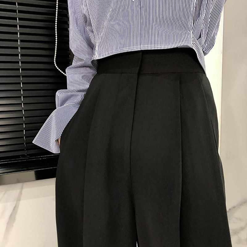 TWOTWINSTYLE ズボン女性のハイウエスト因果ルースワイド脚パンツ女性 2019 秋の韓国のファッションエレガントな潮