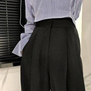 Image 5 - Twotwinstyleズボン女性のハイウエスト因果ルースワイド脚パンツ女性2020秋の韓国のファッションエレガントな潮