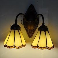 Günstige headed Continental Tiffanylamps spiegel front balkon retro minimalistischen schlafzimmer wand lampe schlafzimmer nacht beleuchtung-in LED-Innenwandleuchten aus Licht & Beleuchtung bei