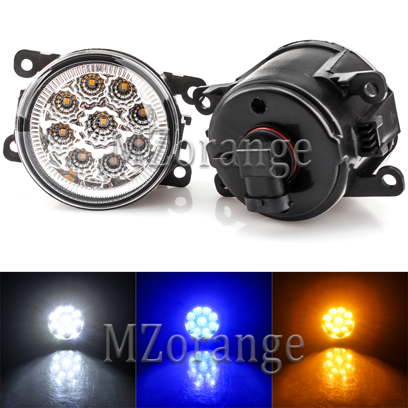 For Renault Duster Megane Fluence Koleos Kangoo Thalia 2003 2015 Fog Lights with LED bulbs fog Lamps 2pcs 12W 1pair left right in Car Light Assembly from Automobiles Motorcycles