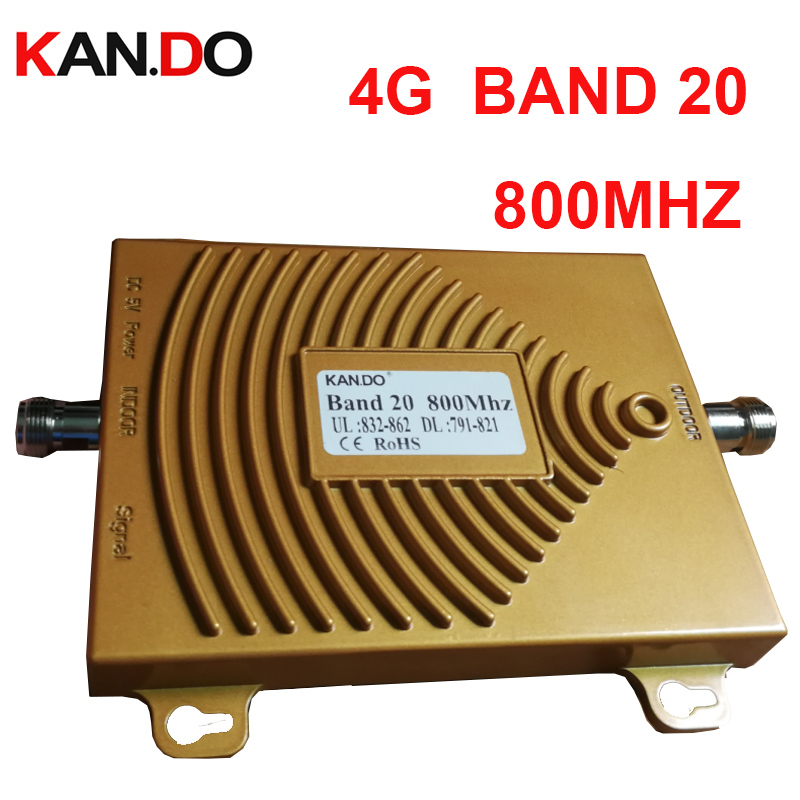 100% Work 22dbm 65db 791-821&832-862 4G LTE 800mhz Signal Booster FDD 4G Repeater 4G Booster Band 20 Phone Amplifier For Euro