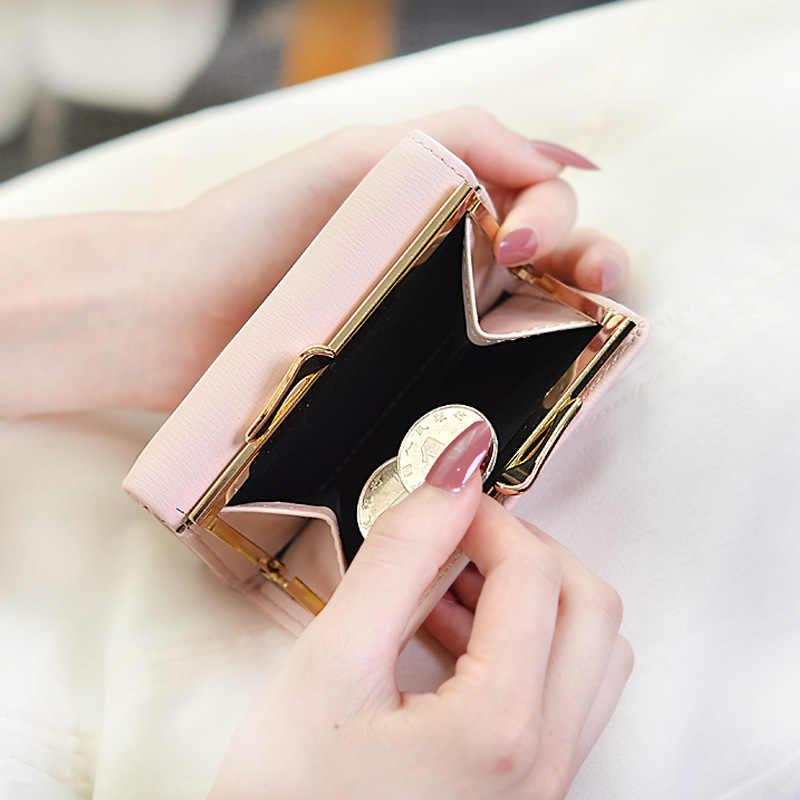 e12ef66f796 2019 New Fashion Wallet Bag Women Hasp Three Fold Small Short Coin Pocket  Purse Flowers Printed Lock Card Holder Wallet Carteras