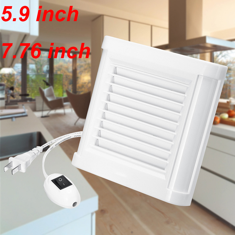 Us 17 5 30 Off 220v 9 7 76inch Silence Ventilating Strong Exhaust Extractor Fan For Window Wall Bathroom Toilet Kitchen Mounted 100 150mm In