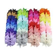 цена на 20-40Pcs Colors Solid Grosgrain Ribbon Bows Clip Hairpin Girl's Boutique hair Bow Hair Clips Headware Kids Hair Accessories 138