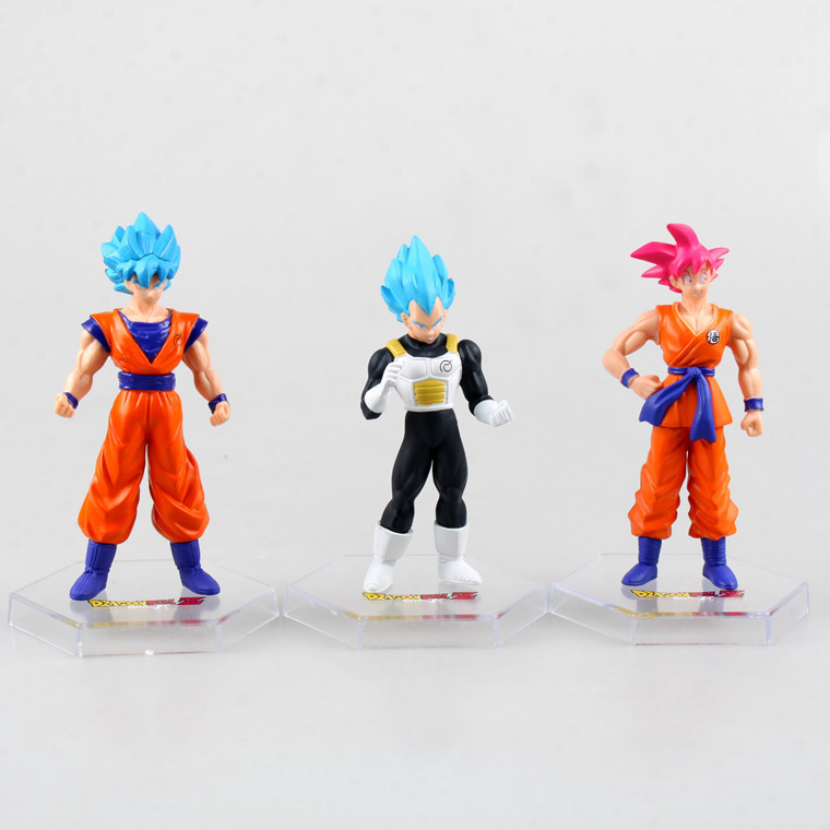 6 pcs/lot Anime Dragon ball Z 55th generation Super Saiyan resurgence PVC Action Figure Toys 15cm Gifts