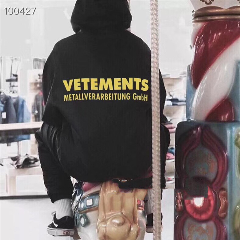Vetements Hoodie Men Women 1:1 High Quality Metallverarbeitung Gmbh Fashion Hip Hop Pullover Vetements Hoodie