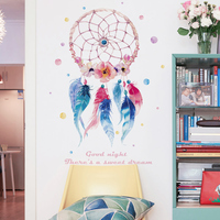 Dreamcatcher wall stickers dream decorative wall removable living room bedroom wallpaper