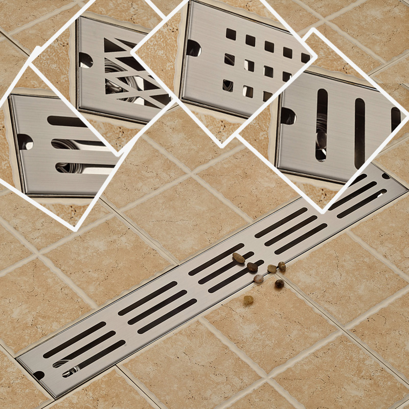 Stainless Steel 700 x 100mm Bathroom Anti-odor Floor Drain Brushed Nickel Large Flow Shower Floor Grid Drainer free shipping 2 pieces 304 solid stainless steel 300 x 110mm square anti odor floor drain bathroom invisible shower drain dr053