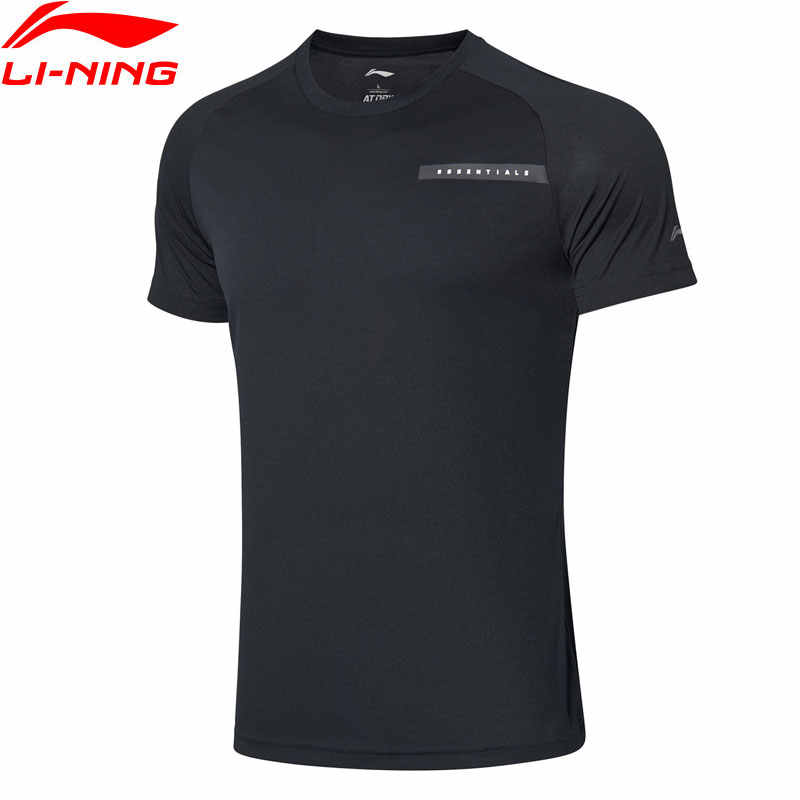 Li-Ning Mannen Training Serie Korte Mouw Top Op Droog Ademend Polyester Voering Li Ning Sport Tee T-shirts ATSP065 MTS3076
