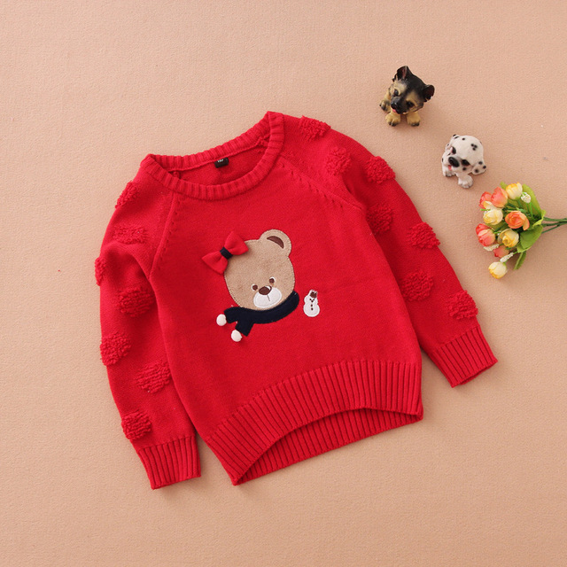 2017 Promotion Casual Cotton Pull Fille Hot Sale Baby Jumper Autumn Winter Cartoon Sweaters Kids Knitted Warm Outerwear Sweater