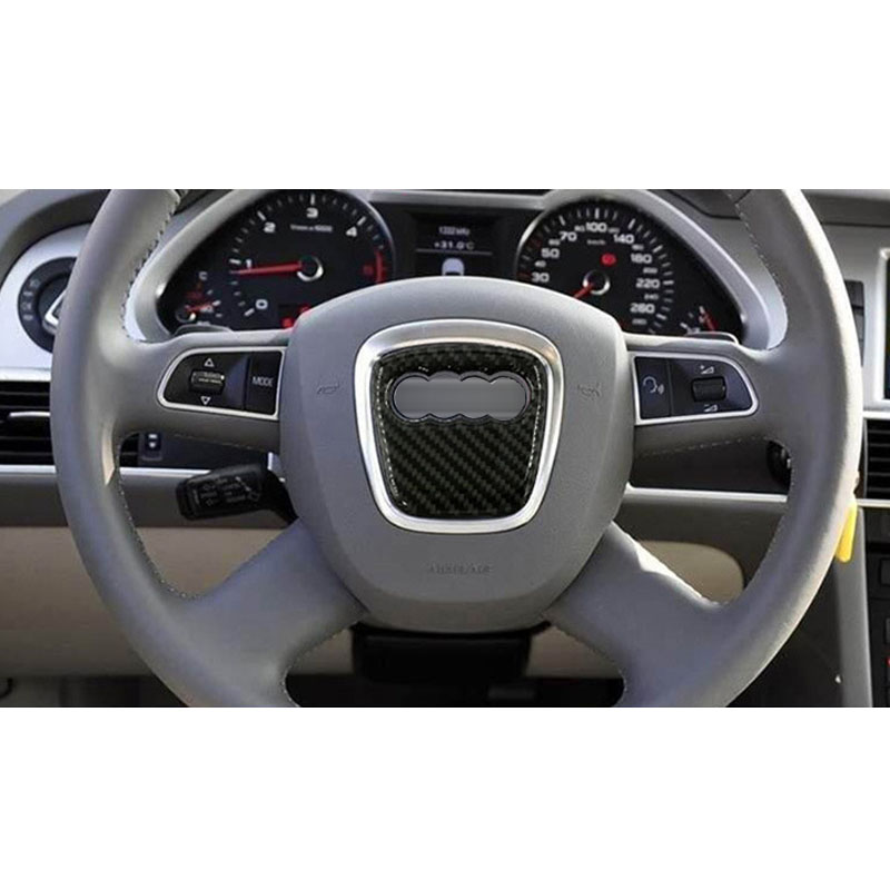 cheapest Carbon Fiber Auto Steering Wheel Sticker Logo Overlay Trim Fit For Audi A3 A4 A6 A1 A7 Q5 Q7 S4 TT Audi Accessories