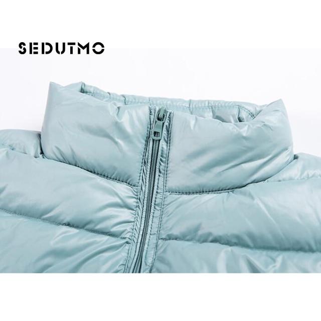 SEDUTMO Winter Women Down Coat Short Ultra Light Duck Down Jackets Slim Puffer Jacket Autumn Parkas ED660 5