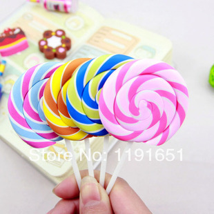 free shipping 10pcslot lollipop eraserscandy 4 color 115cm x 4cm rubber eraser best gifts for children toy in eraser from office school supplies on - Lollipop Pictures To Color